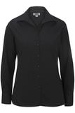 Women's Easy Care Poplin Shirt LS Black Thumbnail