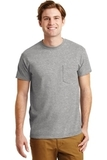 Ultra Blend 50/50 Cotton / Poly T-shirt With Pocket Sport Grey Thumbnail