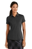 Women's Nike Golf Dri-FIT Smooth Performance Modern Fit Polo Black Thumbnail