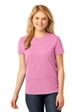 Women's 5.4-oz 100 Cotton T-shirt Candy Pink Thumbnail