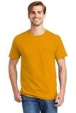 Tagless 100 Comfortsoft Cotton T-shirt With Pocket Gold Thumbnail