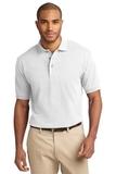 Tall Pique Knit Polo Shirt White Thumbnail