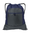 Pocket Cinch Pack True Navy with Deep Smoke Thumbnail