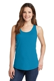 Women's 5.4 oz. 100 Cotton Tank Top Neon Blue Thumbnail
