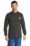 Carhartt Long Sleeve Henley T-Shirt Carbon Heather Thumbnail