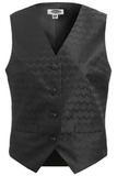 Women's Swirl Brocade Vest Black Thumbnail