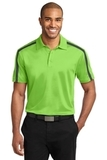 Silk Touch Performance Colorblock Stripe Polo Lime with Steel Grey Thumbnail
