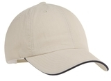 Sandwich Bill Cap Beige with Navy Thumbnail