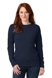 Women's French Terry Crewneck Sweatshirt Navy Thumbnail