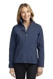 Women's Welded Soft Shell Jacket Dress Blue Navy Thumbnail