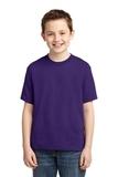Youth 50/50 Cotton / Poly T-shirt Deep Purple Thumbnail