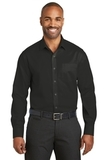 Red House Slim Fit NonIron Twill Shirt Black Thumbnail