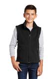 Youth Value Fleece Vest Black Thumbnail