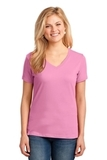 Women's 5.4-oz 100 Cotton V-neck T-shirt Candy Pink Thumbnail