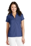 Women's Textured Camp Shirt Royal Thumbnail