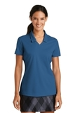 Women's Nike Golf Shirt Dri-FIT Micro Pique Polo Shirt Court Blue Thumbnail