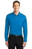 Silk Touch Performance Long Sleeve Polo Brilliant Blue Thumbnail