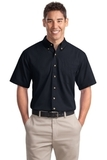 Short Sleeve Twill Shirt Classic Navy Thumbnail