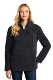 Ladies Cozy 1/4-Zip Fleece Charcoal Thumbnail