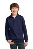 Youth 1/4-zip Cadet Collar Sweatshirt Navy Thumbnail