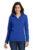 Women's Pinpoint Mesh 1/2 Zip Pullover True Royal Thumbnail