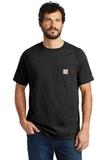 Carhartt Force Cotton Delmont Short Sleeve T-Shirt Black Thumbnail