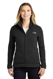 Women's The North Face Sweater Fleece Jacket TNF Black Heather Thumbnail