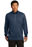 Nike Golf Dri-Fit 1/2-Zip Cover-up Midnight Navy Heather with Midnight Navy Thumbnail