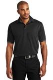 Dry Zone Colorblock Ottoman Polo Shirt Black with Iron Grey Thumbnail