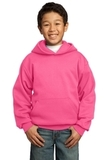 Youth Pullover Hooded Sweatshirt Neon Pink Thumbnail