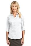 Women's 3/4-sleeve Blouse White Thumbnail