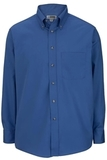 Men's Button Down Poplin Shirt LS French Blue Thumbnail