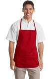 Medium Length Apron Red Thumbnail