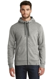 New Era French Terry FullZip Hoodie Light Graphite Twist Thumbnail