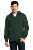 V.I.T.Fleece Full-Zip Hoodie Forest Green Thumbnail