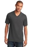 5.4-oz 100 Cotton V-neck T-shirt Charcoal Thumbnail
