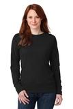 Women's French Terry Crewneck Sweatshirt Black Thumbnail