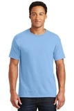 50/50 Cotton / Poly T-shirt Light Blue Thumbnail