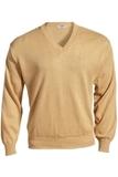 Men's 100 Acrylic V-neck Sweater Khaki Thumbnail