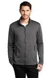 Collective Striated Fleece Jacket Sterling Grey Heather Thumbnail