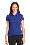 Women's Nike Golf Dri-FIT Solid Icon Pique Modern Fit Polo Deep Royal Blue Thumbnail