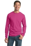 Moisture Management 50/50 Cotton / Poly Long Sleeve T-shirt Cyber Pink Thumbnail