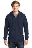 Ultimate Cotton Full-zip Hooded Sweatshirt Navy Thumbnail