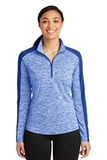 Women's Electric Heather Colorblock 1/4-Zip Pullover True Royal Electric with True Royal Thumbnail