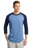 Colorblock Raglan Jersey Carolina Blue with Navy Thumbnail