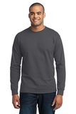 Long Sleeve 50/50 Cotton / Poly T-shirt Charcoal Thumbnail