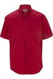 Men's Cotton Rich Short Sleeve Twill Shirt Red Thumbnail