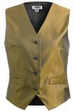 Women's Diamond Brocade Vest Gold Thumbnail