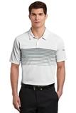 Nike Golf Dri-FIT Chest Stripe Polo White with Cool Grey Thumbnail