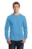 Long Sleeve 5.4-oz. 100 Cotton T-shirt Aquatic Blue Thumbnail